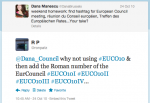 Birth of the #EUCO hashtag