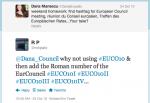Birth of the #EUCO hashtag